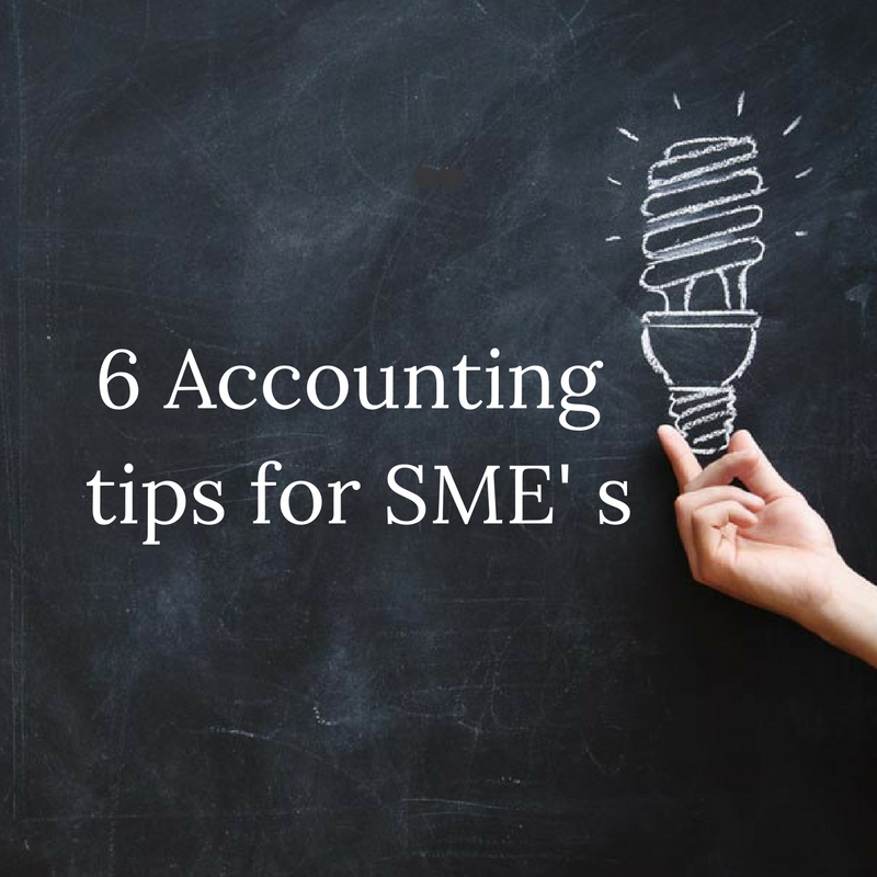 accounting tips form SMEs
